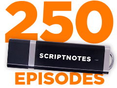 Scriptnotes 250 USB Drives
